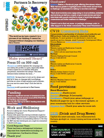 Image of the substance misuse newsletter