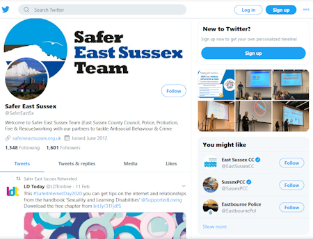 Safer East Sussex Team on Twitter